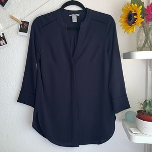 H&M navy blue button down